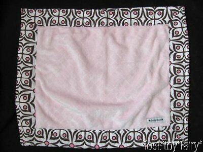 Boutique Baby Star Pink & Brown Flower Rectangle Lovey Security Blanket Clutch