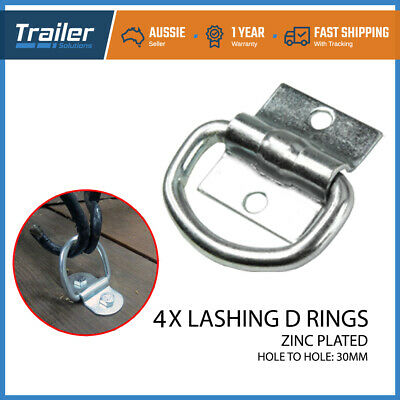 4 X Lashing D Ring Tie Down Anchor Point Trailer Truck Toolbox Ute Tray