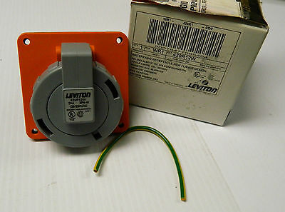 New Leviton Watertight Receptacle 420R12W 3P 4W  20 Amp A 20A 250 Vac
