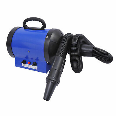 Dog Pet Grooming Hair Dryer Hairdryer Heater Blaster 2800W Blue