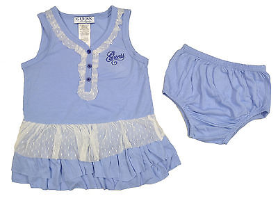 Guess Infant Girls S/S Lilac Dress & Diaper Cover Set Size 12M 18M 24M $34