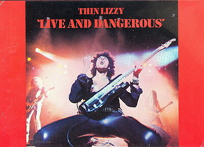 Thin Lizzy 1978 advertising postcard unused / mint LIVE AND DANGEROUS