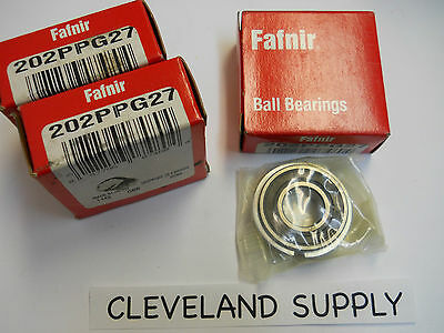 Fafnir 202Ppg27 Sealed Ball Bearings (Set Of 3) New Condition In Box