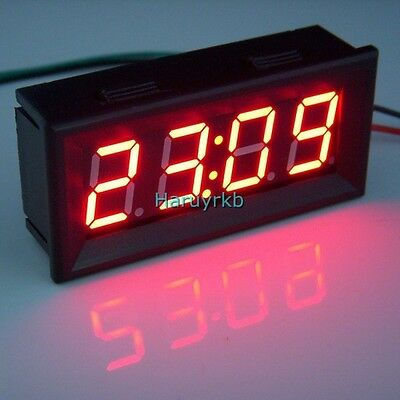 """0.56"""" Digital Clock red LED Panel Display Time Watch DC 12/24V Battery Powered"""
