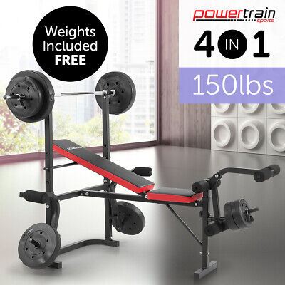 Bench Press Home Gym Multistation Weights Training Exercise Fitness Equipment