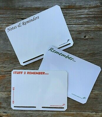 3x A5 Slotted Notepad Holder Fridge Whiteboard Magnetic Memo List Reminder +3pen