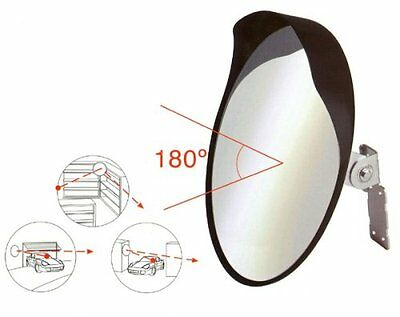 Sumex Driveway Garage Safety 30cm Convex Blind Spot Mirror to Improve Visibility