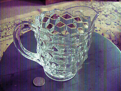 """rare fostoria american small pitcher 5-1/2""""tall by 6""""wide Mint condition"""