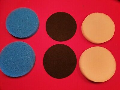 Eheim Compatible 2215 Media Set 6 Pads 2 Blue 2 Carbon & 2 White Polishing Pads