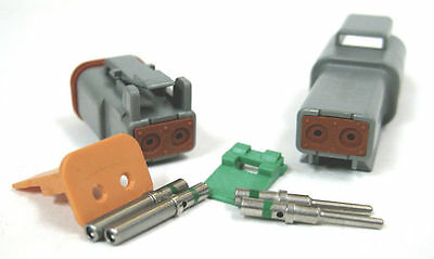 deutsch dt series 2 pin connector kit 16 20 awg • 10 50 picclick deutsch dt series 2 pin connector kit 16 20 awg