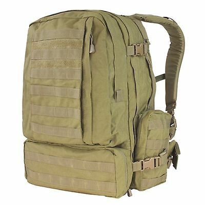 NEW CONDOR Tan #125 MOLLE 3 Day Mission Army Assault Patrol Pack Hiking Backpack