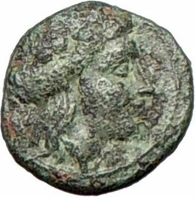 Abydos in Troas 300BC Rare Original  Ancient Greek Coin APOLLO Eagle i26384