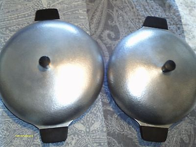 4 pc Set Vintage Club Hammered Aluminum Dutch Ovens Club Hammerite