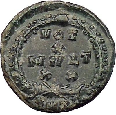 Theodosius I the Great 379AD Authentic Ancient  Roman Coin Wreath  i28564
