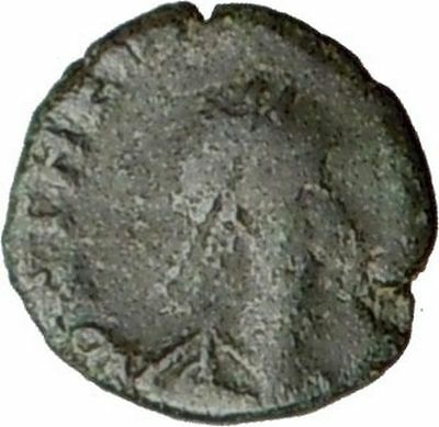 THEODOSIUS II 408AD Ancient  Roman Coin Wreath, cross within  i20662