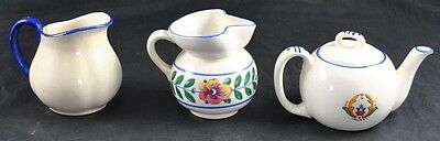 Vintage Lot Of 3 - 1 Covered Creamer 2 Uncovered Both Made In Czechoslovakia