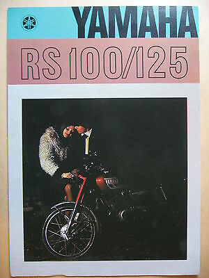 1977  Yamaha Rs 100/125 Catalogue Depliant Prospectus Brochure