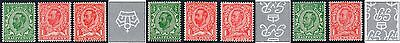 1911-12 KGV Downey Head Definitives WATERMARK INVERTED