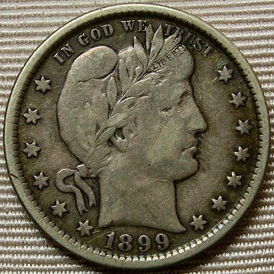 1899 Barber Quarter * Lovely Coin