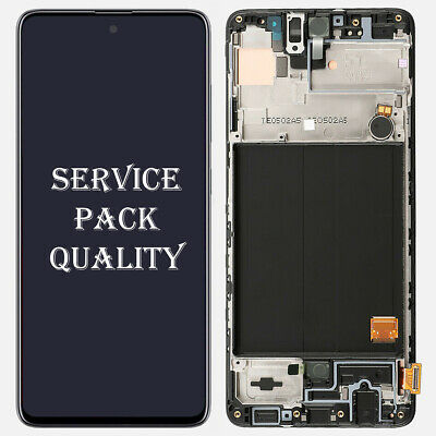 OLED For Samsung Galaxy A51 2019 A515 Display LCD Touch Screen Digitizer + Frame