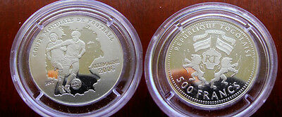 2006 Togo Silver Proof 500 francs Soccer-Germany-World cup