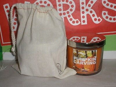 Bath & Body Works Pumpkin Carving Scented Candle 4oz with Gift Bag NWT