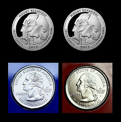 2013 P+D+S+S Mount Rushmore SD Quarter Dollar Mint Proof Set ~ National Parks