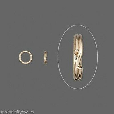 """KEY RINGS Lot 200 ~ 15mm Approx 5/8"""" Split Ring ~ GOLD Plated Steel Findings"""