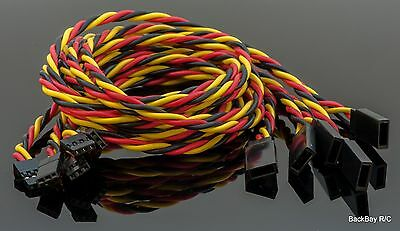 (5) JR / Hitec Servo Extension Leads with 60CM Heavy Duty Twisted 20awg Wire