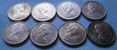LOT 8 Canada Canadian small cents one cent penny coin 1960 - 1976