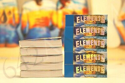 10 packs (50 per pack) Elements Rolling Paper Tips Chemical FREE