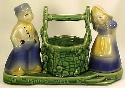 Shawnee Wishing Well Planter Dutch Boy & Girl Art Pottery Vintage 1940s
