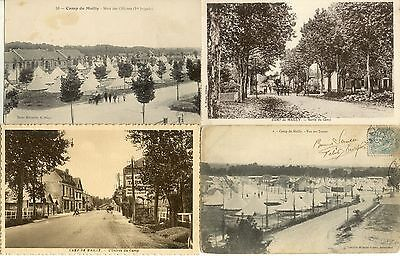 Lot 4 cartes postales anciennes CAMP DE MAILLY 2