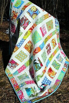 BABY QUILT PATTERN Charm Squares, layer cake or Fat Quarters, Flowers in the Sun