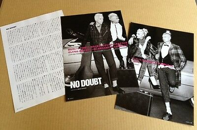 2012 No Doubt JAPAN 4pg 1 photo mag article / clippings cuttings