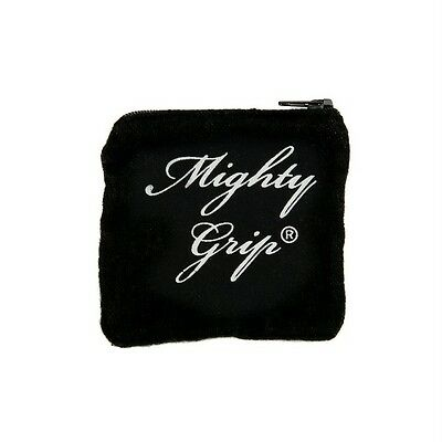 Mighty Grip Pole Dance Powder & Gymnastic Reusable Chalk Studio Zip Pouch Black