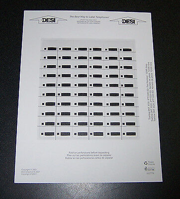 Toshiba Desi Labels For DKT3020 and DKT3220 Phones, 1 Sheet of 3 Desi Labels NEW