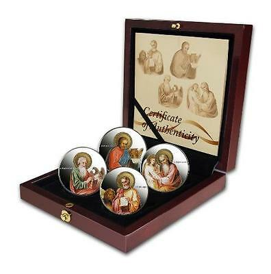 Niue 2011 The Evangelists 2$ 4x 1oz Coins Set .999 Silver Coins MINTAGE 2000ONLY
