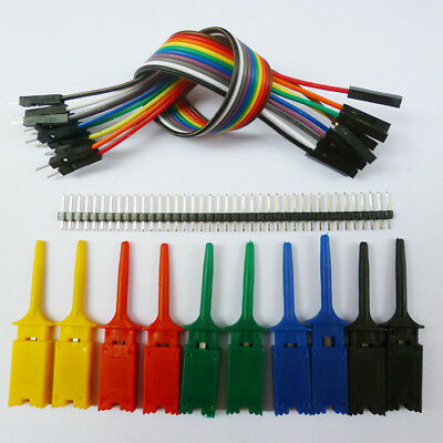 DIY 2.54mm Pin Male Plug to Hook Test Clip Gripper Probe For Arduino UNO Project