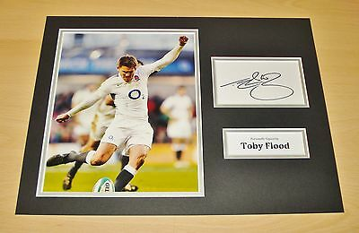 Toby Flood GENUINE HAND SIGNED Autograph 16x12 Photo Display England Rugby + COA