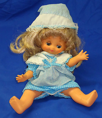 """Vintage Playmates 11"""" Tall Doll Long Blonde Curly Hair 5110 A135"""