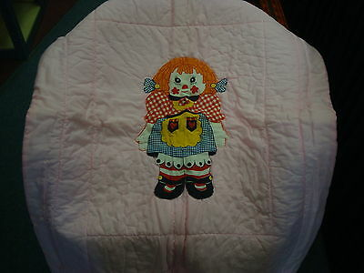 Vintage Little Miss Muffet Pink & White Baby Comforter The Muffets A135
