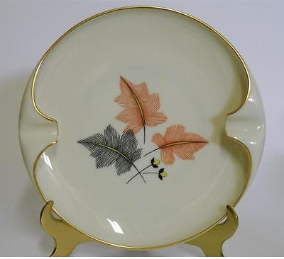 LENOX ~ Large Ashtray with Leaves  & Gold Trim