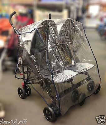 New Side by Side Double Pram Universal Dust Insect Wind Rain Cover Protector