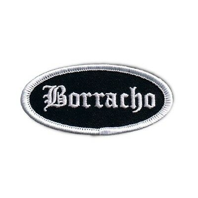 Borracho Name Tag Patch Novelty badge Mexican Sign Embroidered Iron On Applique