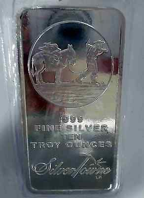 10 oz SILVER BAR ~  PROSPECTOR  ~ SILVERTOWNE MINT ~ NEW & SEALED IN VINYL!