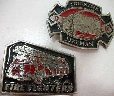 Lot of 2  Firefighters belt buckles