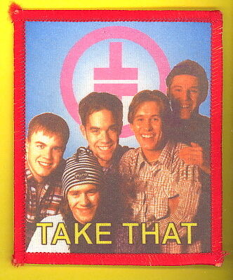 Take That 1993 uk sew-on cloth patch UNUSED #4