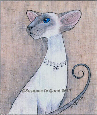 Large Ltd. Ed Bluepoint Siamese Cat Print From Original Painting Suzanne Le Good
