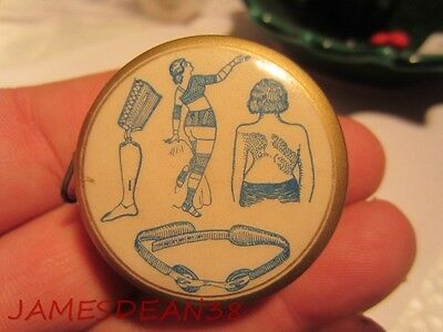 Illinois Surgical Supply Co Chicago Quack Medical Celluloid Tape Measure